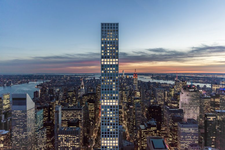 432 park avenue unveils its lighting display new york yimby