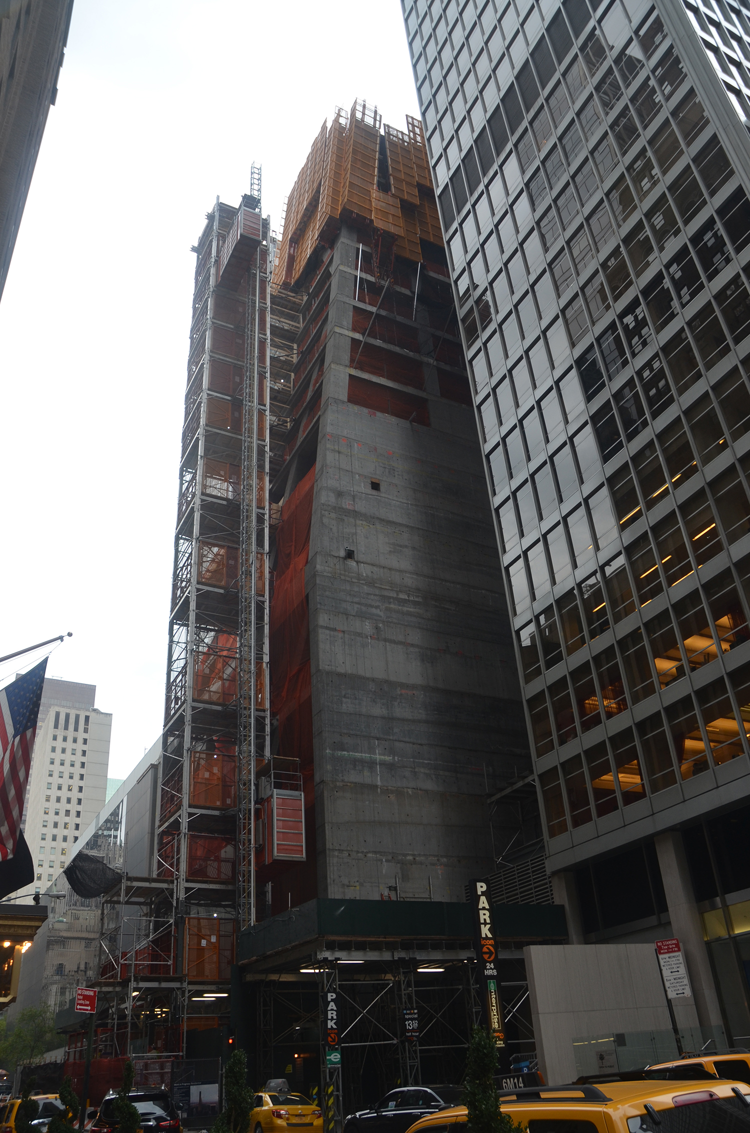 Construction on the West 54th Street side of 53W53