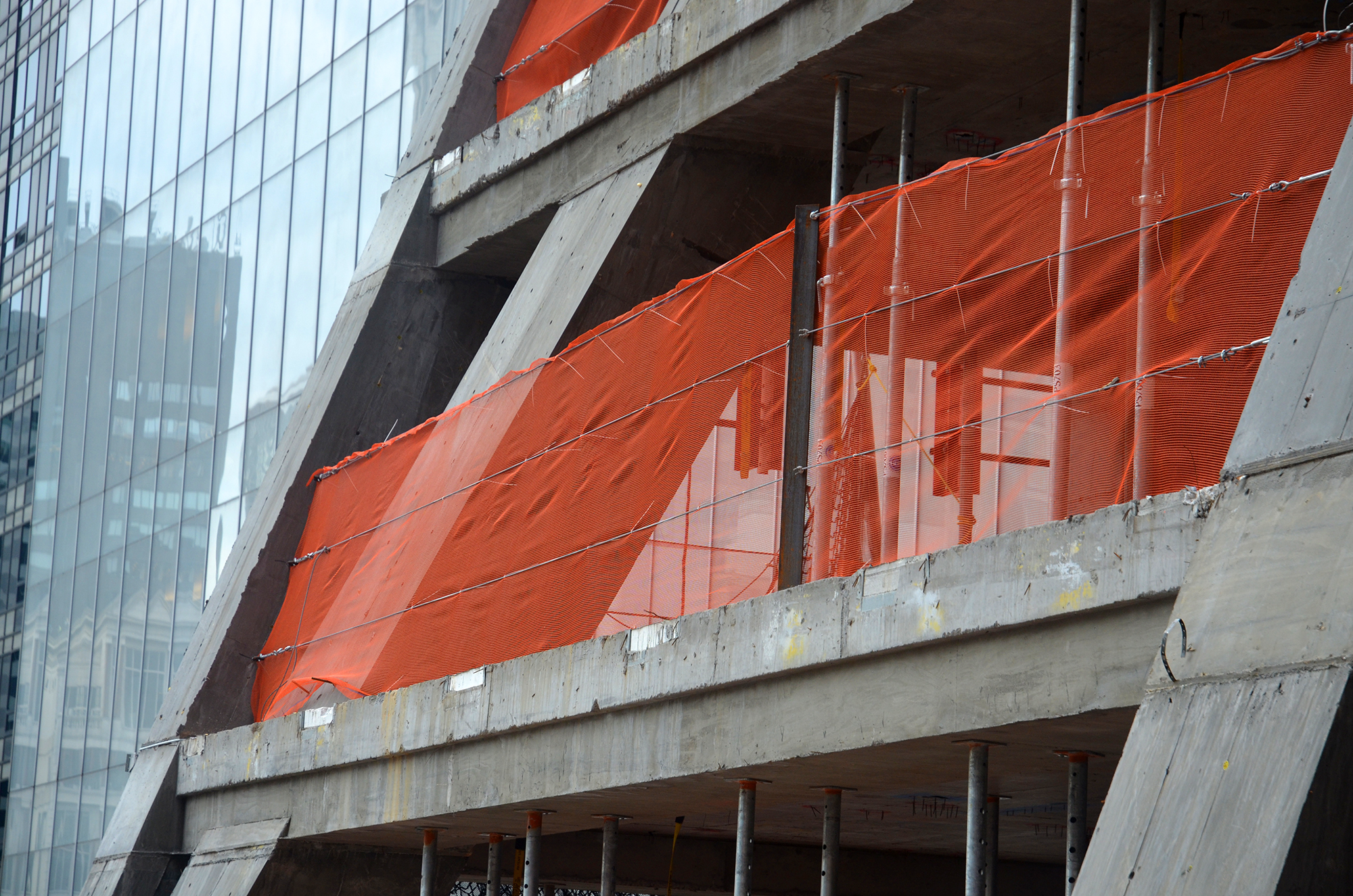 Corner portion of the diagrid at 53W53