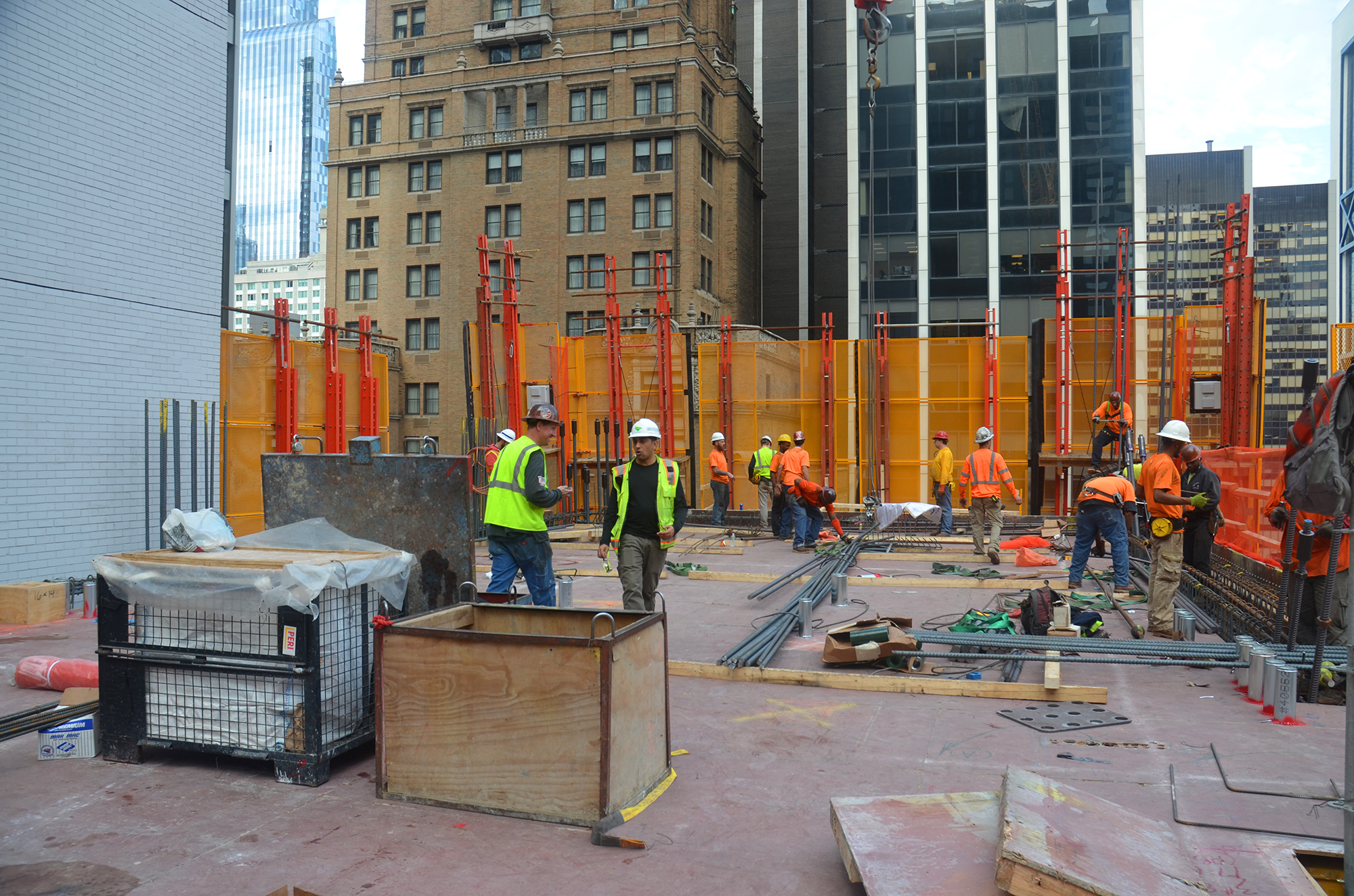 Construction cages at 53W53