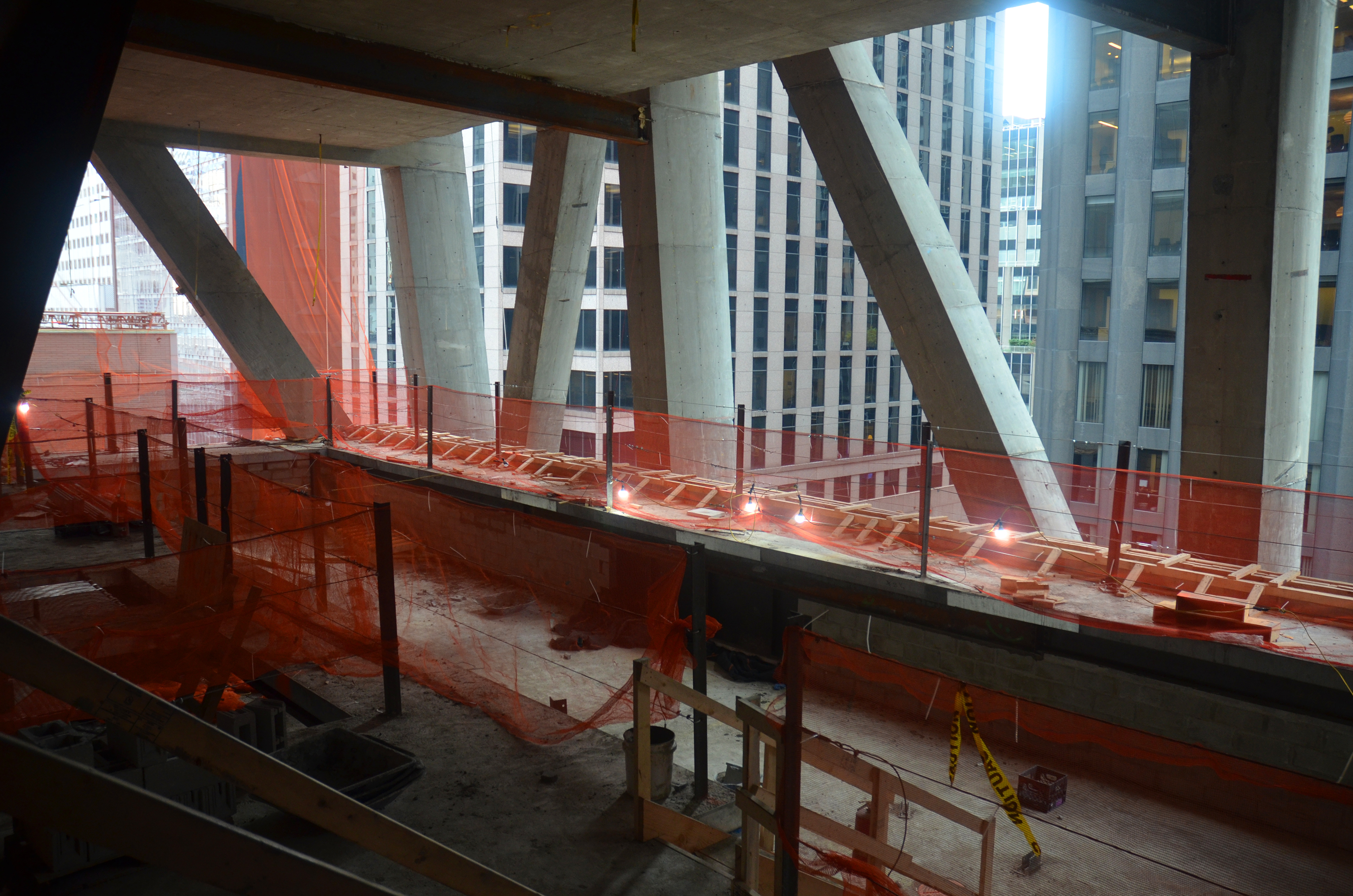 Swimming pool under construction at 53W53