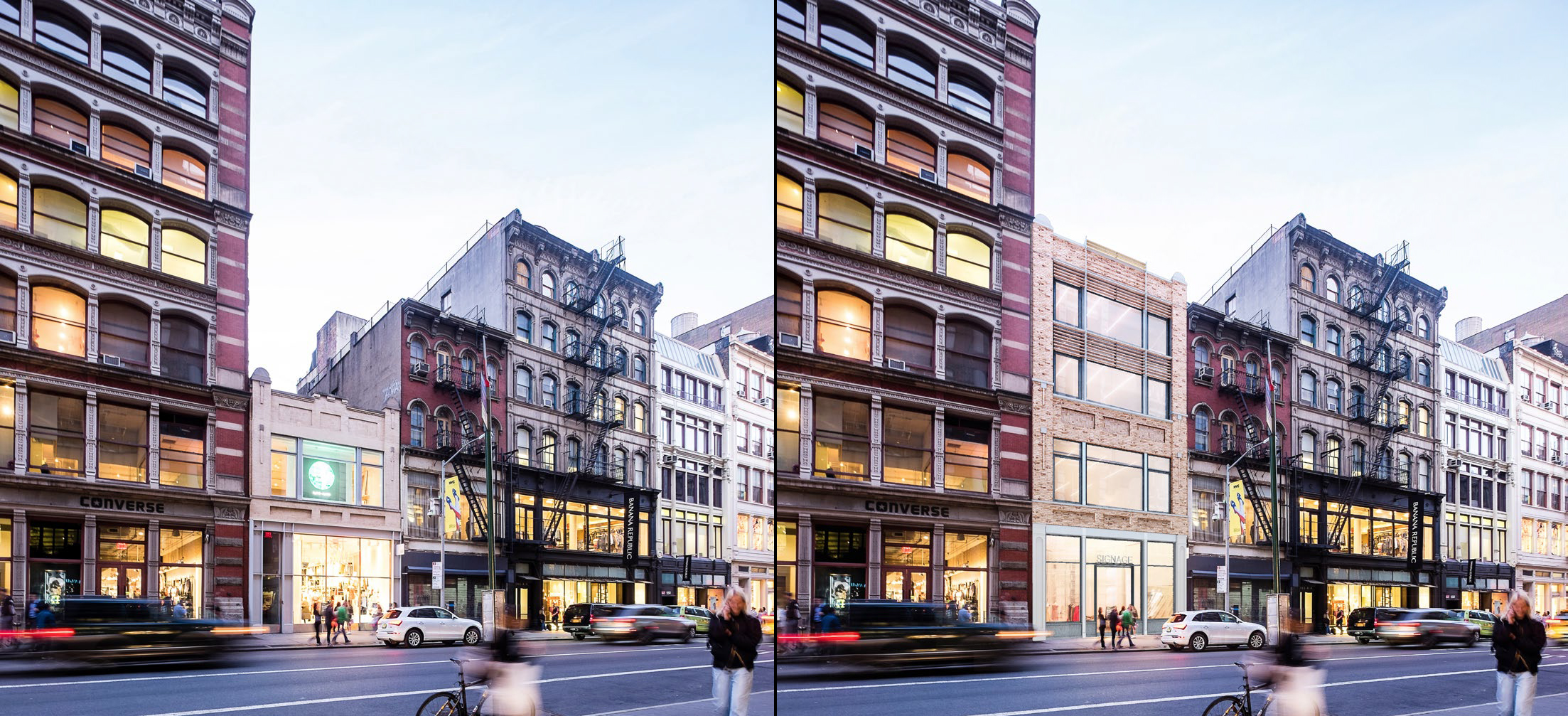558 Broadway, existing and proposed