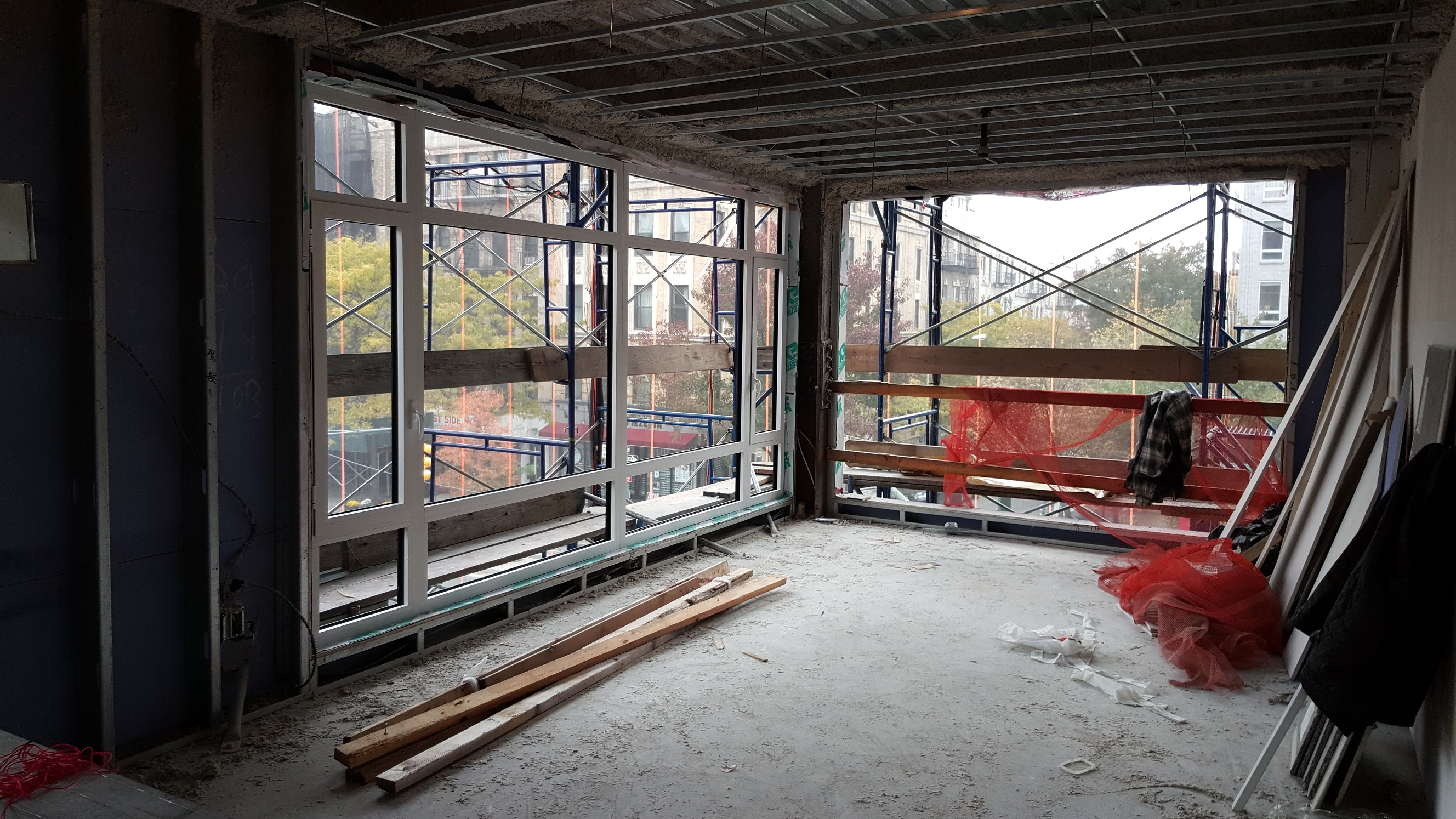 Unfinished interior at 952 Columbus Avenue. photo via Evan Shaffer at Douglas Elliman