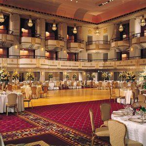 Grand ballroom at the Waldorf-Astoria Hotel. Credit: Hilton Worldwide