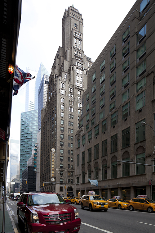 The former Beverly Hotel (now the Benjamin Hotel) at 125 East 50th Street