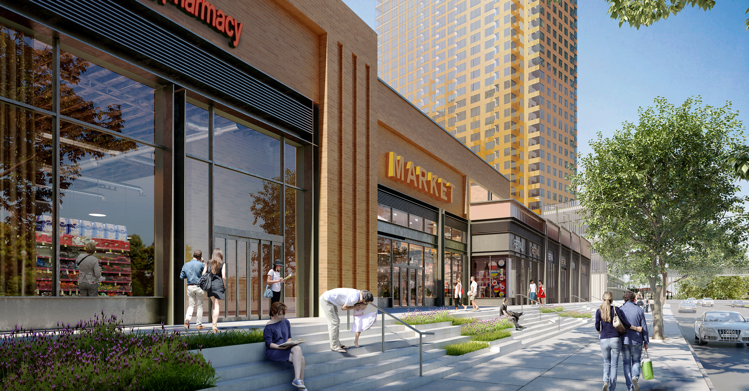 Retail for 532 Neptune Avenue. rendering by S9 Architecture