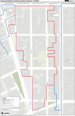 Map of the Proposed Sullivan-Thompson Historic District