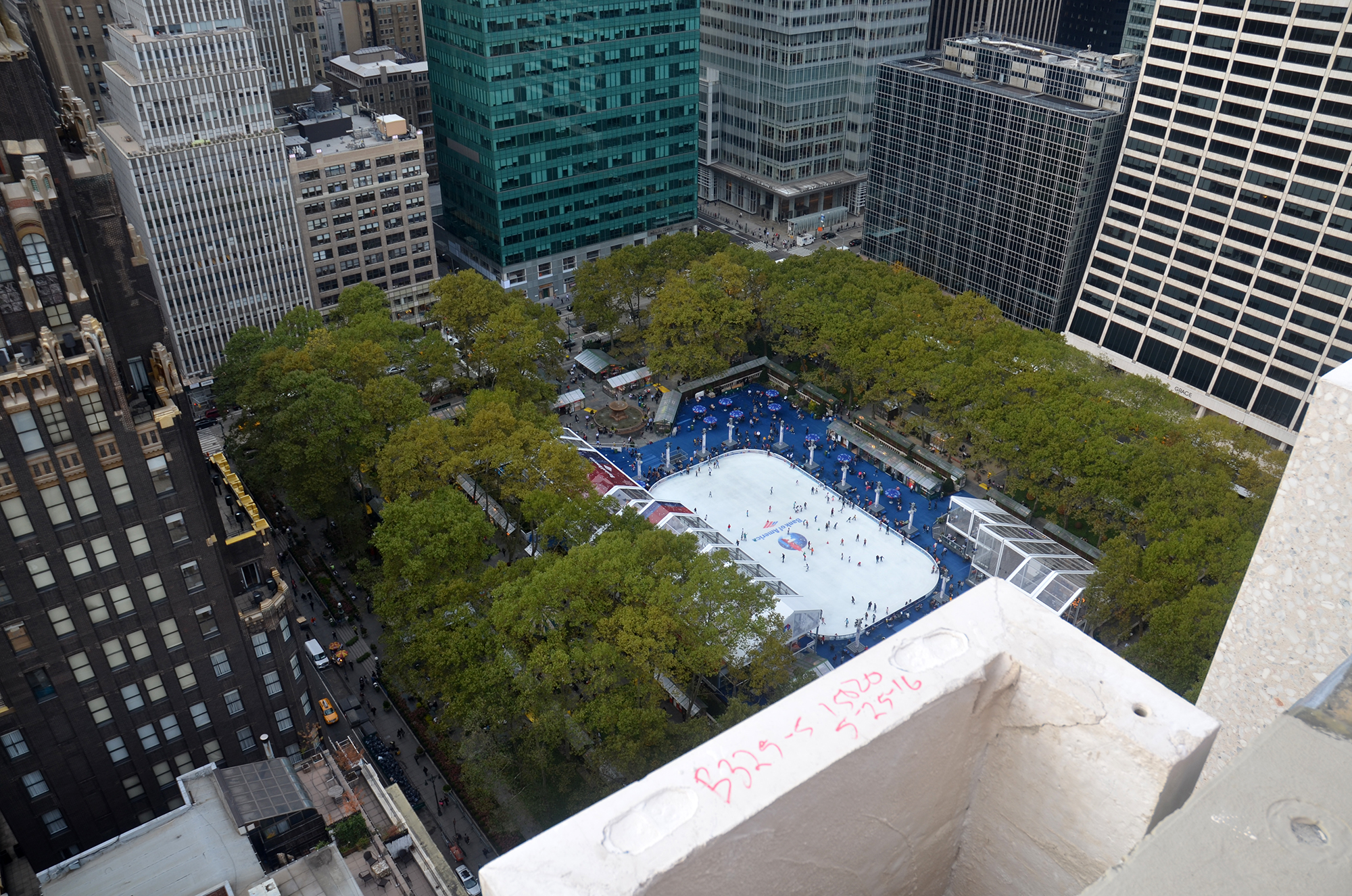 Bryant Park as seen from The Bryant