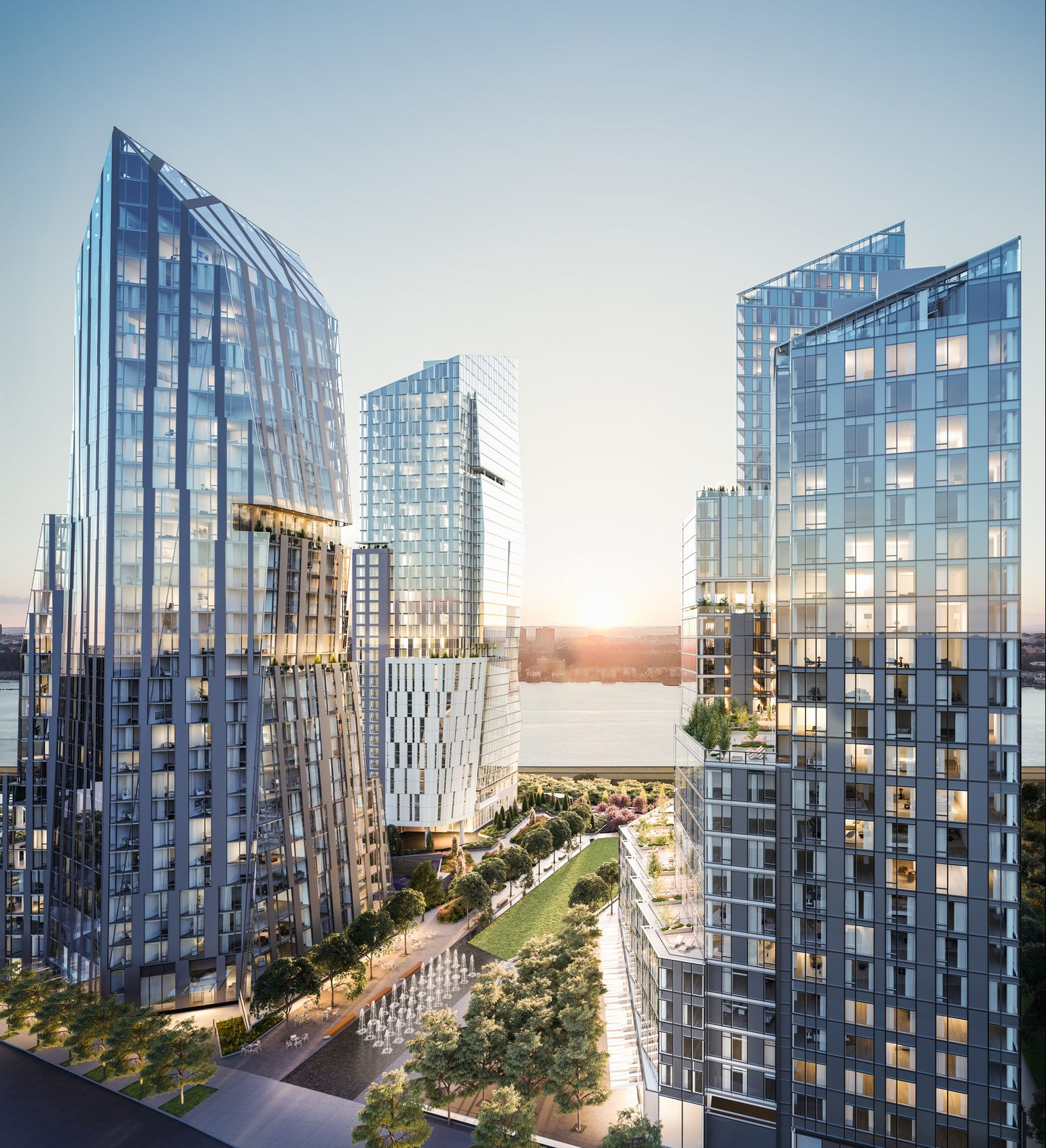 Long-Awaited Waterline Square Towers Top Out On The Upper West Side