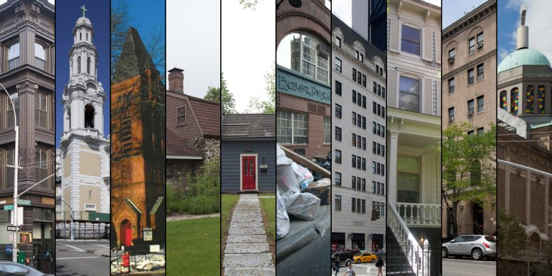 Photos of the 10 sites designated as landmarks by the Landmarks Preservation Commission on Tuesday