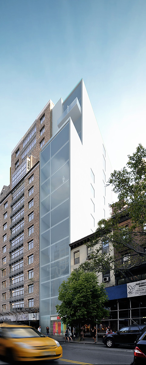 Proposal for 128 West 23rd Street. rendering by Sven Peters in collaboration with VUW / CastDesignStudio