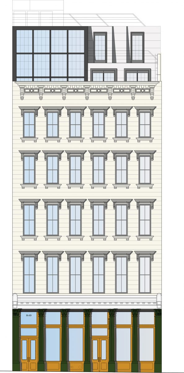 Rendering of proposal for 51 White Street