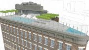Restoration Hardware's proposal for the roof of 55 Gansevoort Street