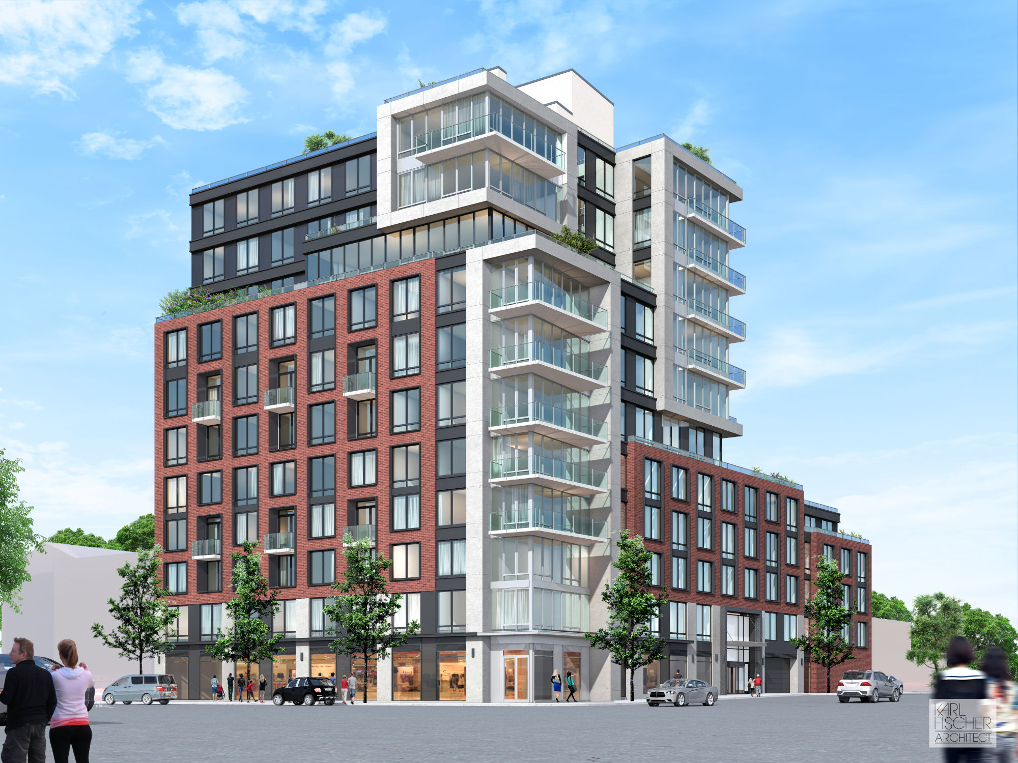 581 Fourth Avenue, rendering by Karl Fischer Architect
