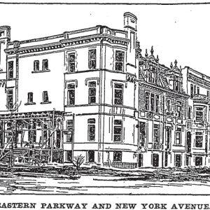 615 Eastern Parkway, as seen in the Brooklyn Daily Eagle in 1900
