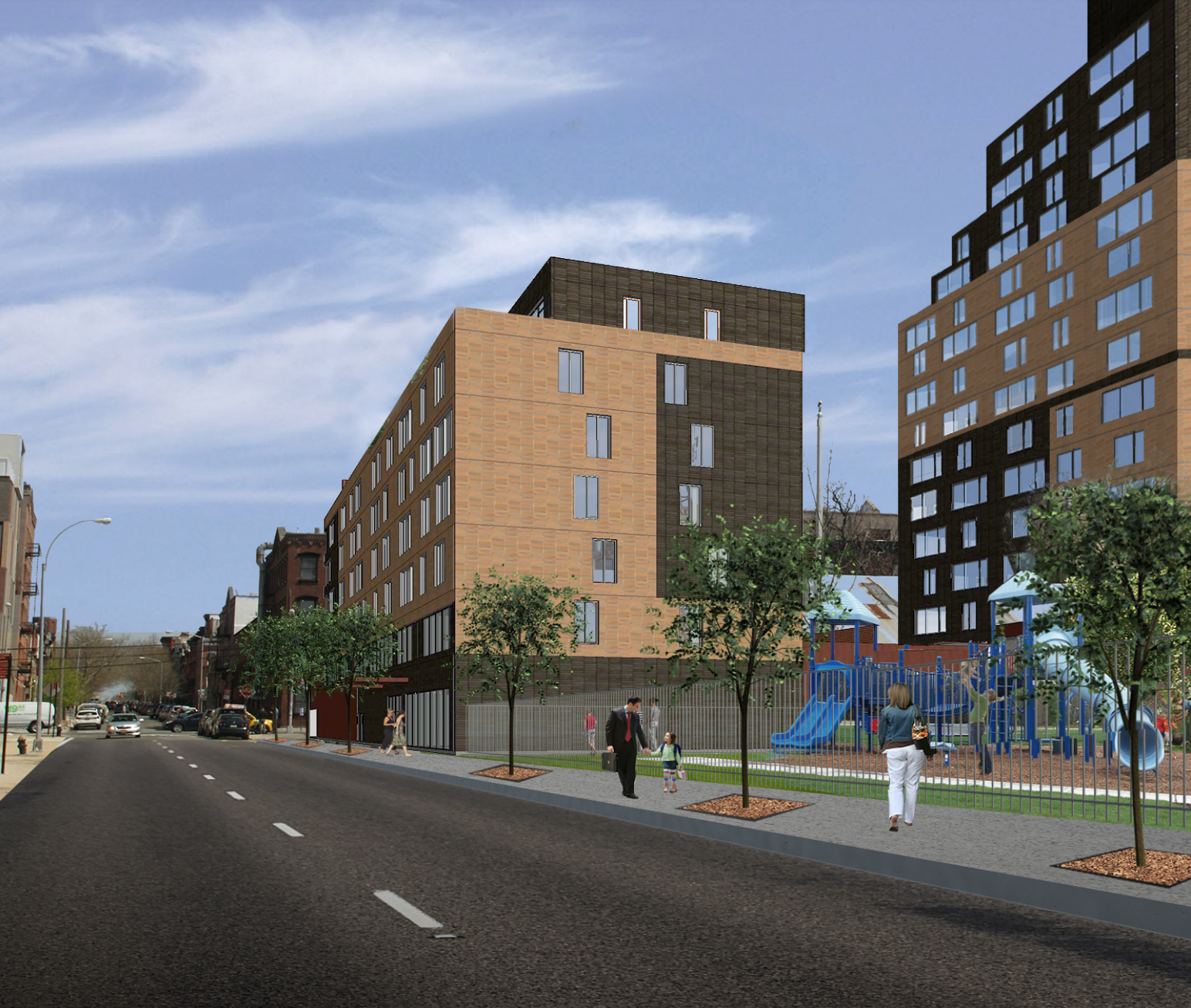 As-of-right plan for 13 Greenpoint Avenue. rendering by Kutnicki Bernstein Architects