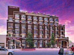 105 North 13th Street. rendering by Karl Fischer Architect