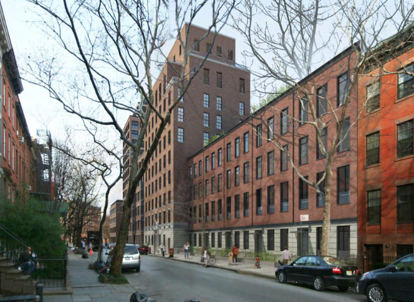 Rendering of 133-141 West 11th Street. Credit: FXFOWLE via GVSHP