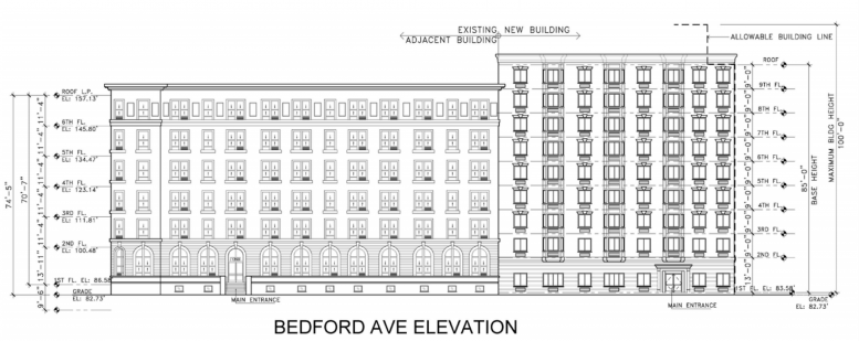 1350 Bedford Avenue. drawing by AECOM via DCP