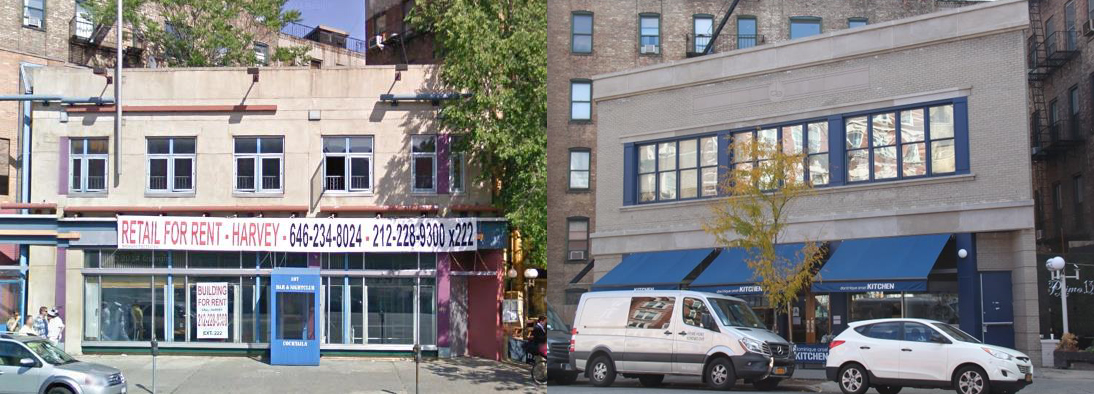 137-141 Seventh Avenue South, pre-alteration and post-alteration. Photos via GVSHP.