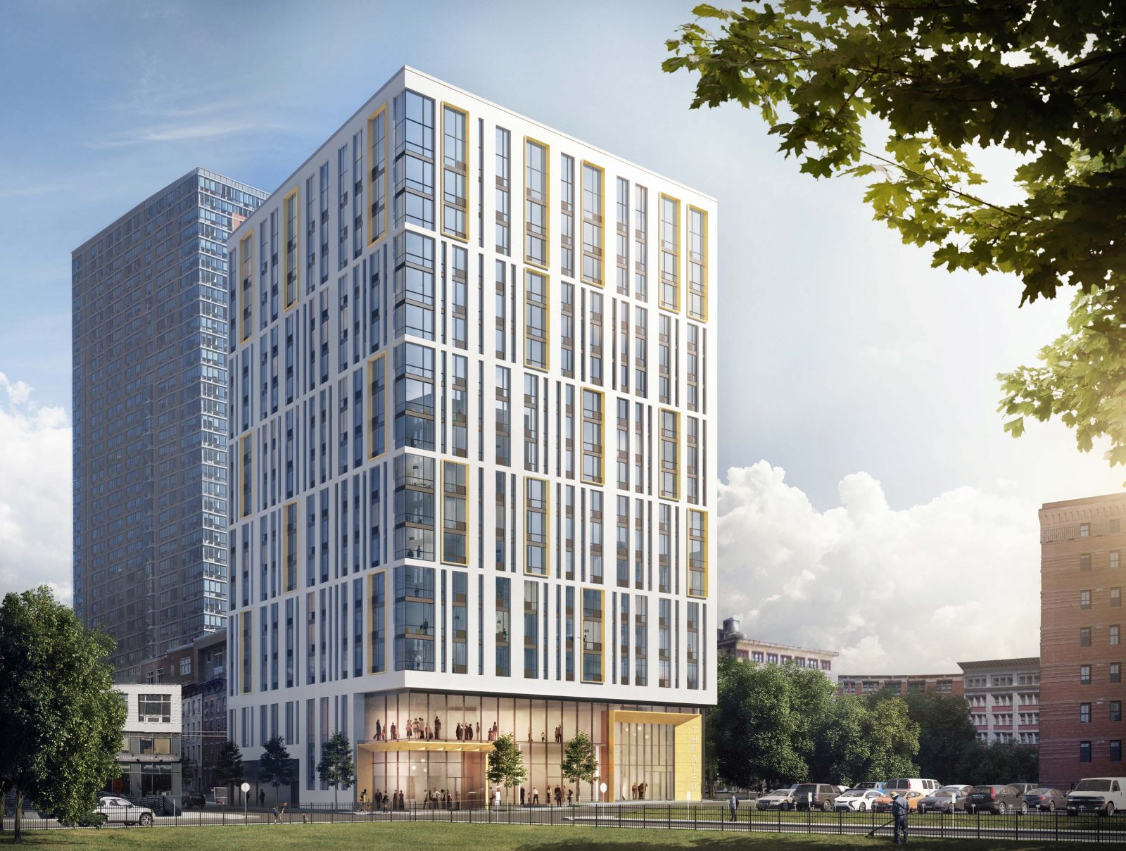 Rendering of 321 Warren Street in Jersey City. Credit: Fogarty Finger Architecture