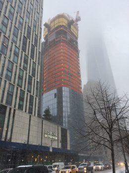 111 Murray Street on January 7, 2016. Photo by Vertical_Gotham via YIMBY Forums