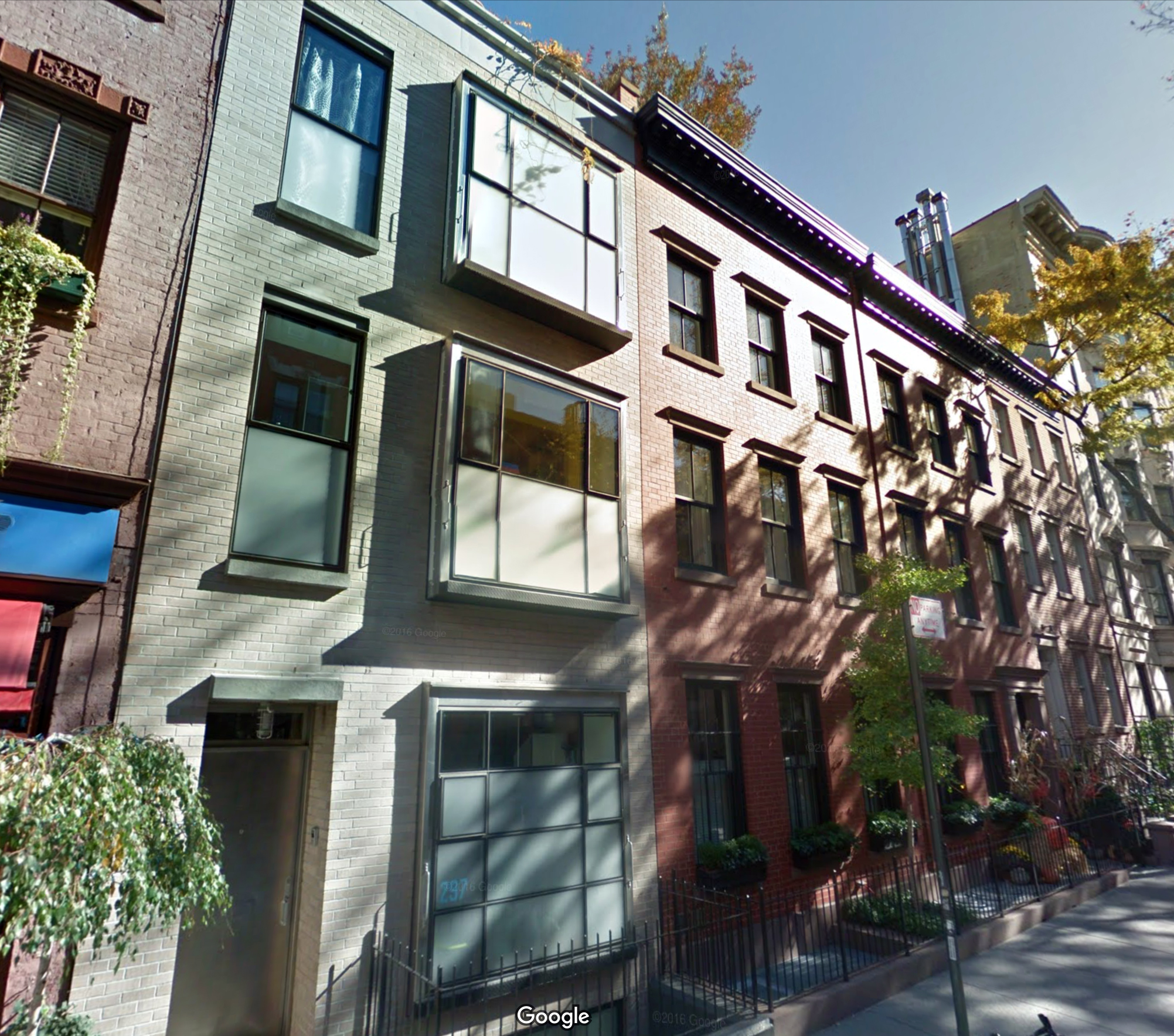 293-297 West 4th Street in November of 2016. Via Google Maps.