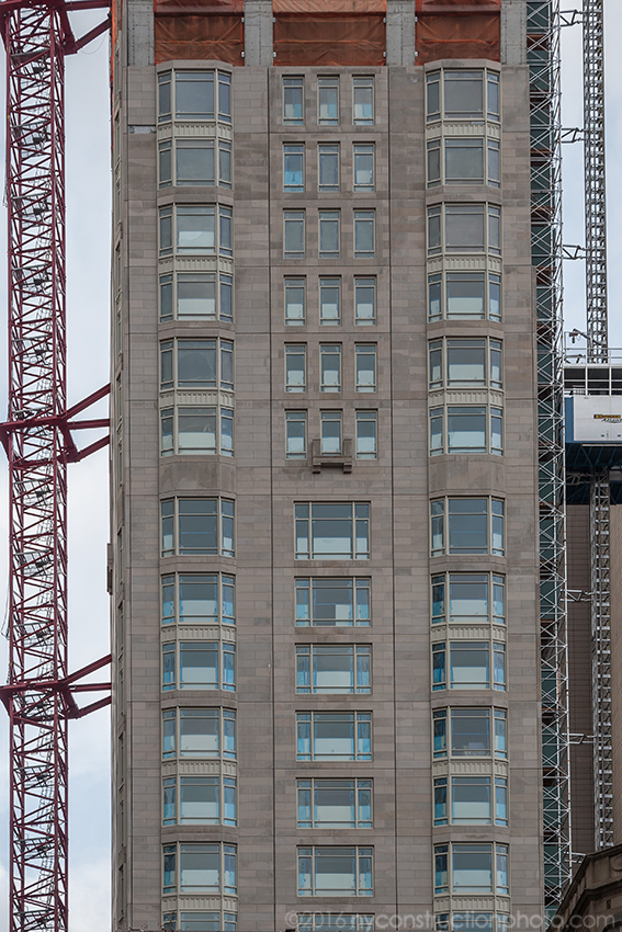 Close-up of the facade of 520 Park Avenue. Photo by ILNY via YIMBY Forums