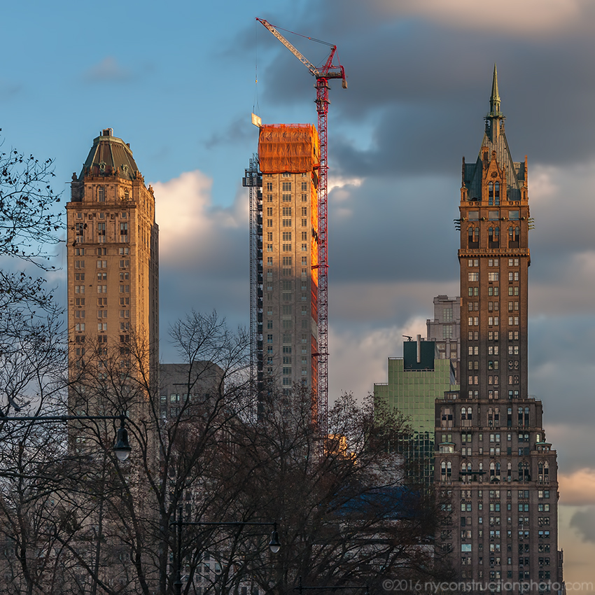 520 Park Avenue, flanked by the Pierre and the Sherry-Netherland. Photo by ILNY via YIMBY Forums
