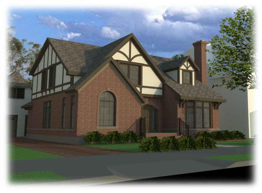 Proposal for 320 Kenmore Road, front view - alternate angle