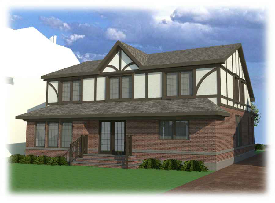 Proposal for 320 Kenmore Road, rear view