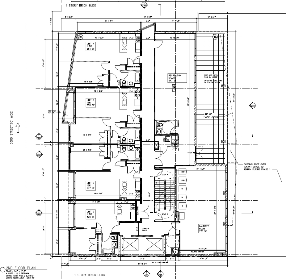 Second floor plan of phase 1. Drawing by Morali-Architect, dated February 2015. Publicly available via the Remedial Action Work Plan.