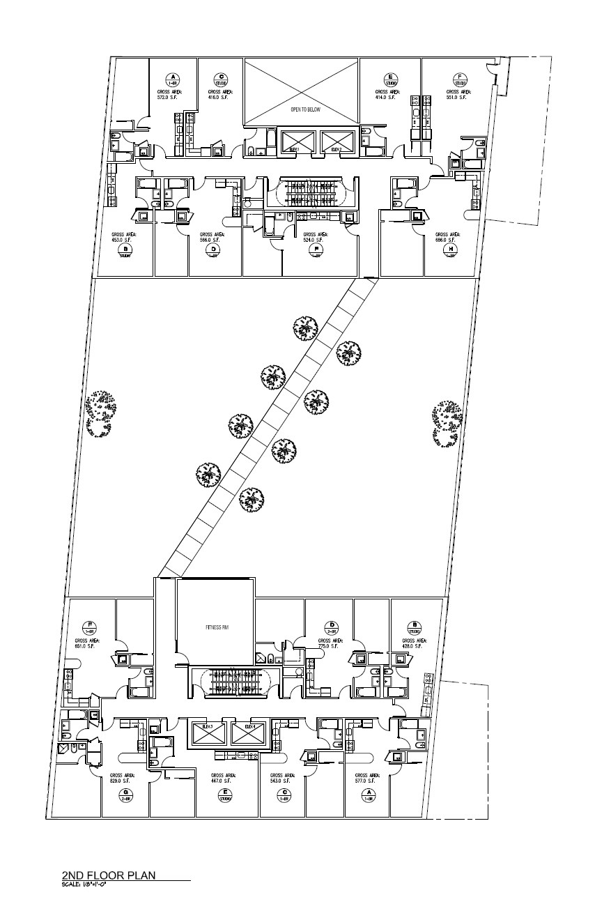 Second floor plan. Drawing by Tan Architect PC, publicly available via the Remedial Action Work Plan.