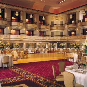 Grand ballroom at the Waldorf-Astoria Hotel. Credit: Hilton Worldwide