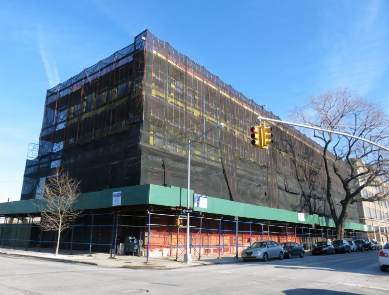 Façade Work In Progress at Vertical Expansion of 33-01 38th Avenue