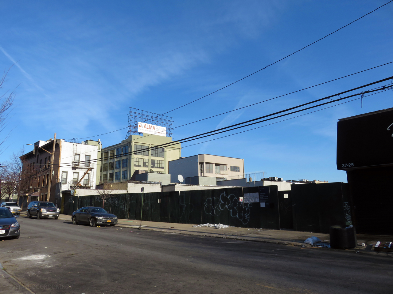 West end of the site, 32nd Street.