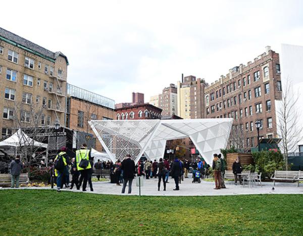 Dedication of the NYC Aids Memorial in 2016. Credit: NYC AIDS Memorial