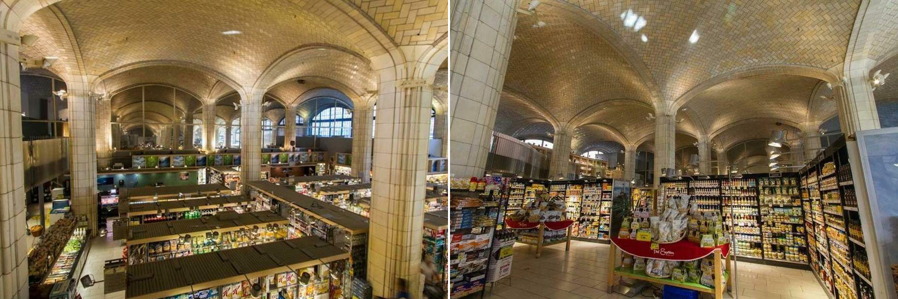 Photos of the space under the Queensboro Bridge as the Food Emporium