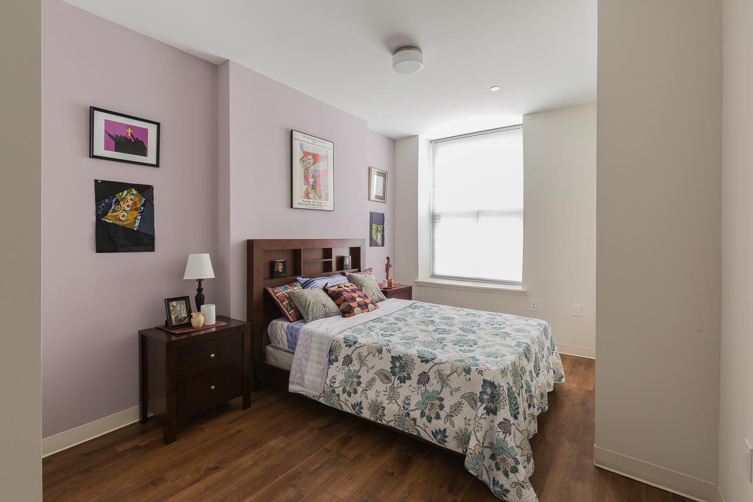 A renovated bedroom at Randolph Houses. photo by Mouhsine Idrissi Janati for Trinity Financial