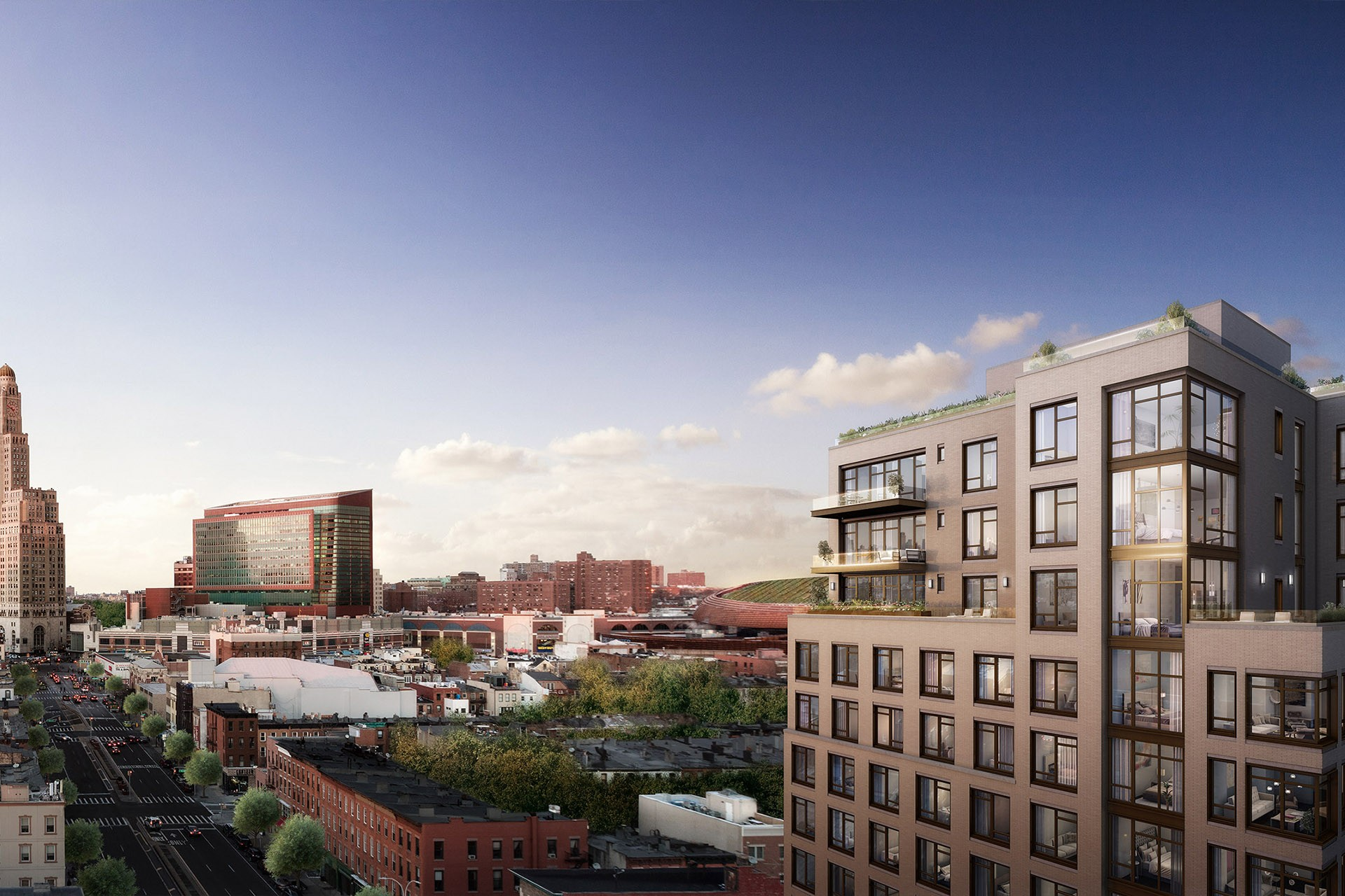 Rendering of Baltic Park Slope, 613 Baltic Street. Via JDS Development Group/VOA Architecture