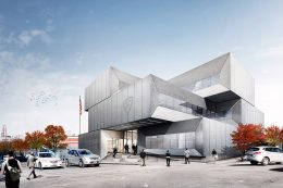 New NYPD station at 567 East 149th Street, rendering by Bjarke Ingels Group