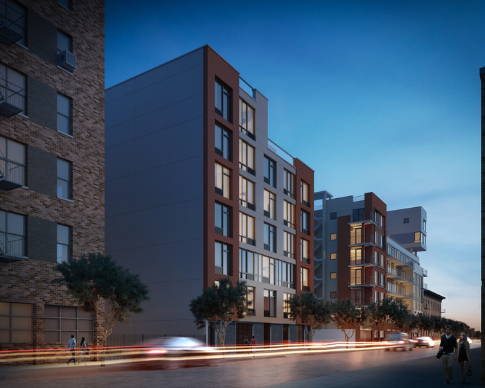 Rendering of 577 Baltic Street and 595 Baltic Street. Via Adam America Real Estate