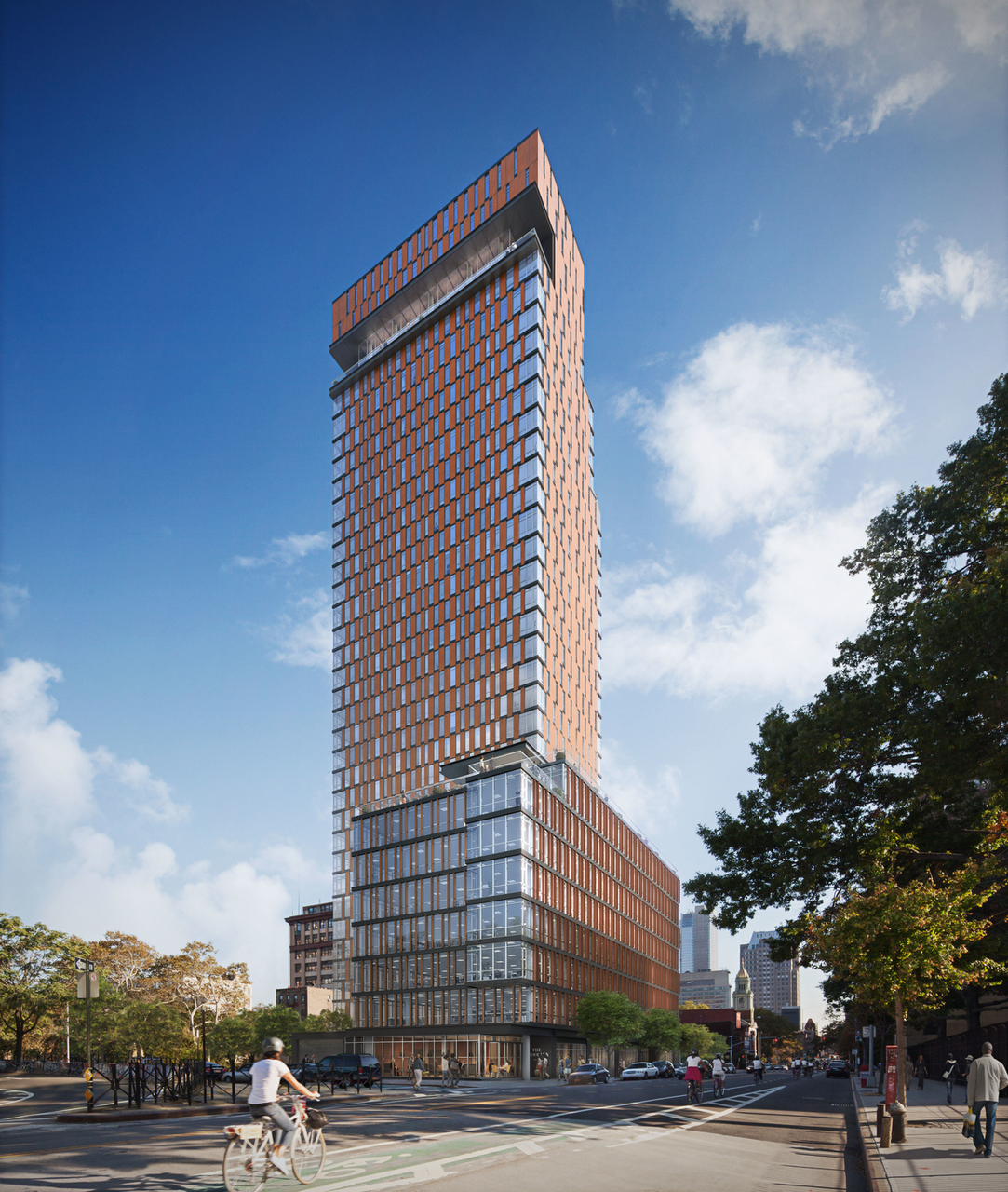 120 Nassau Street. rendering by Woods Bagot Architecture