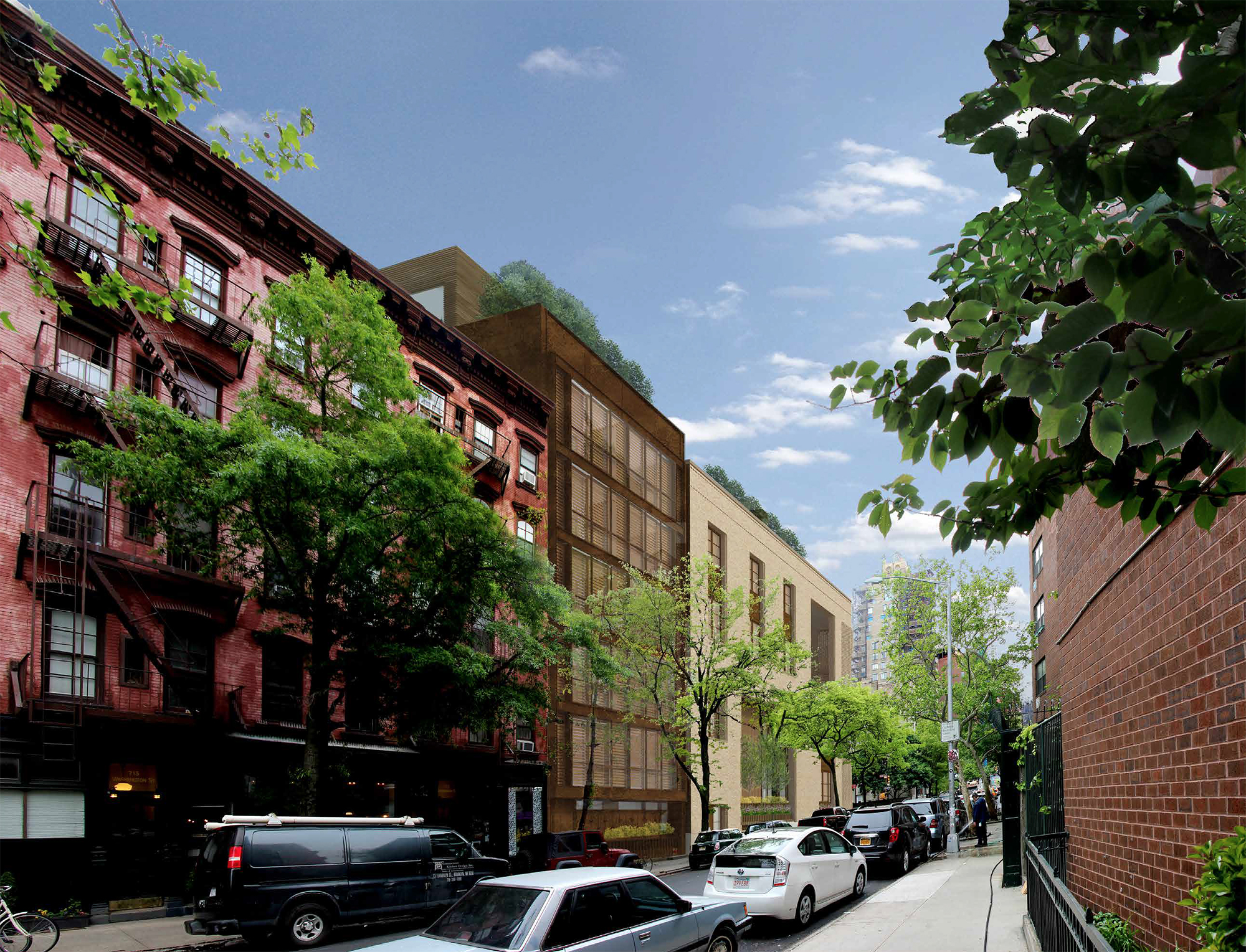 Proposal for 145 Perry Street, a.k.a. 703-711 Washington Street. View from Washington Street.
