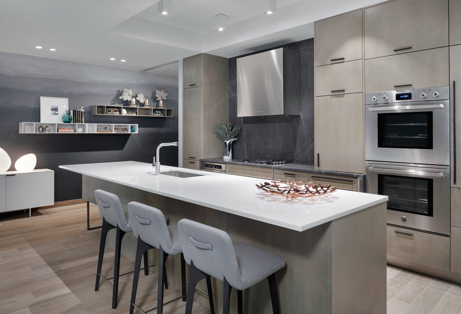 Model unit kitchen at 90 Lexington Avenue. photo via HFZ Capital