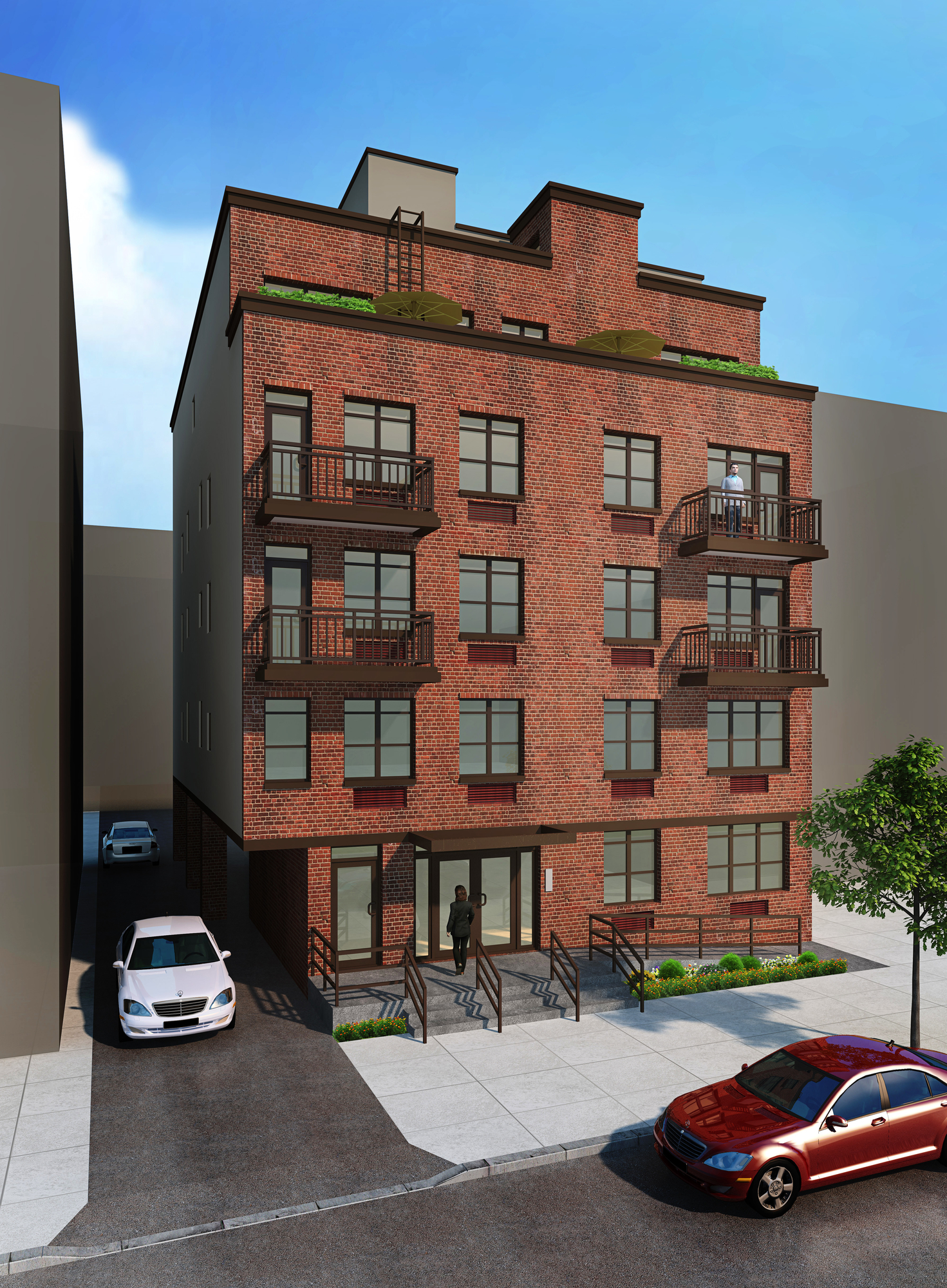 Construction Wrapping On Five Story 16 Unit Condominium