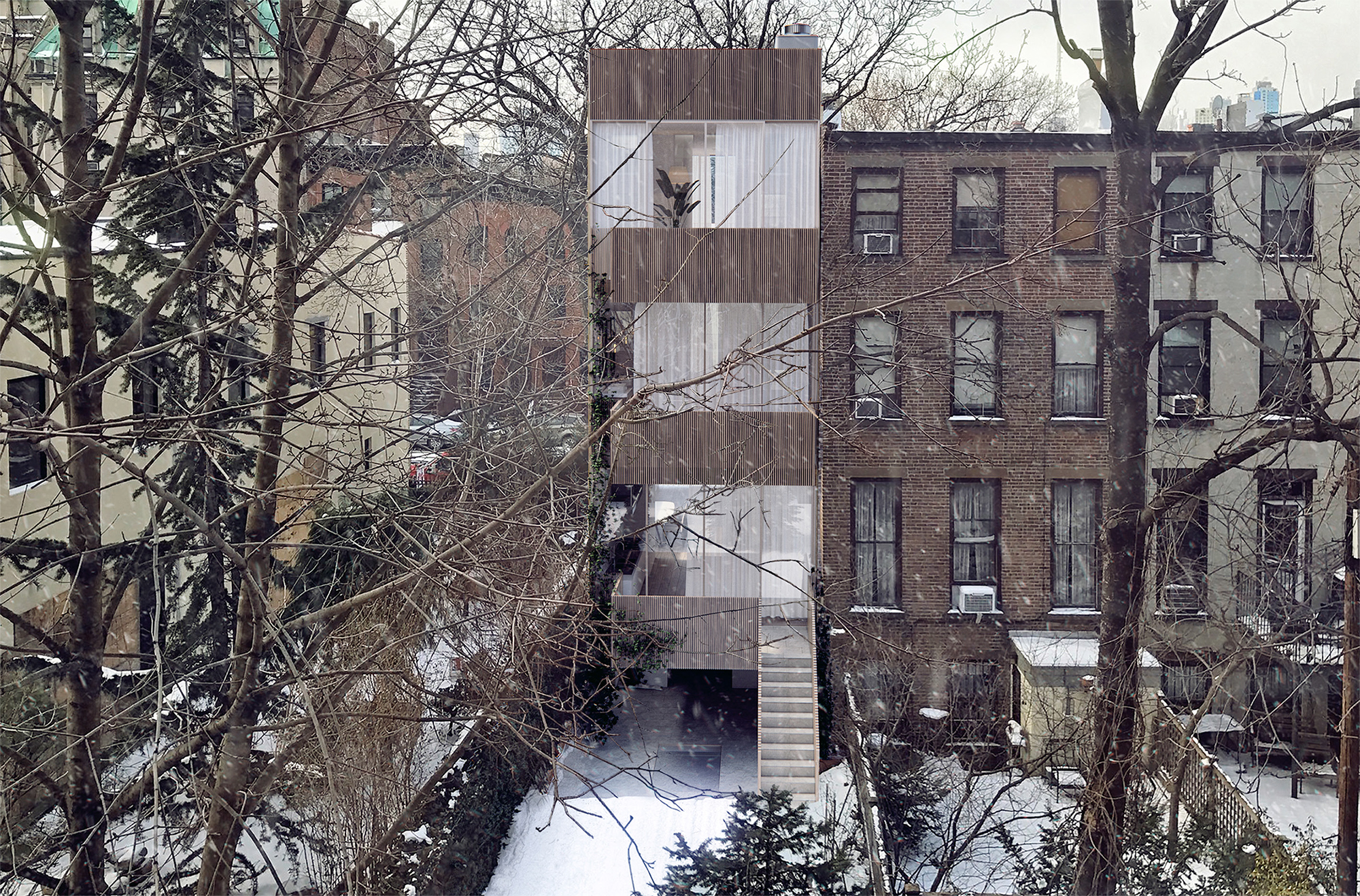 Proposal for rear of 311 Vanderbilt Avenue.