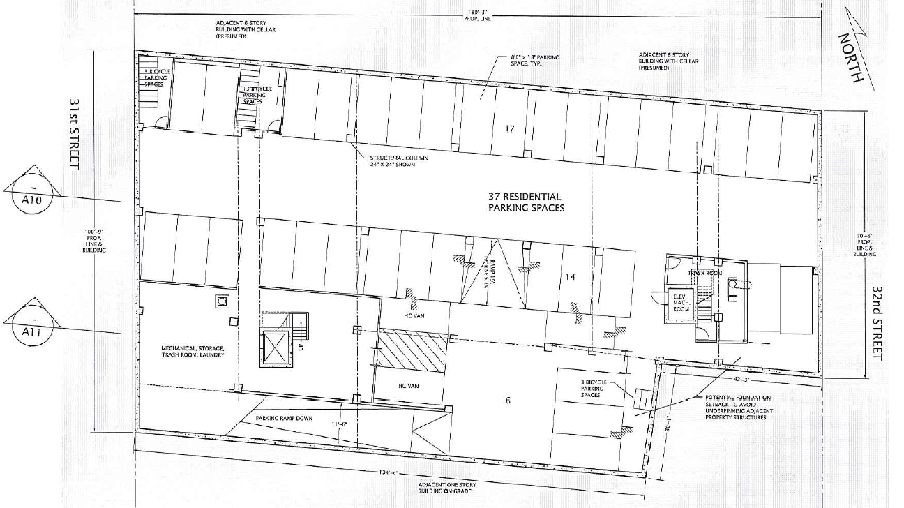 Ground floor plan. Drawing by Gilman Architects, publicly available via the Remedial Investigation Report.