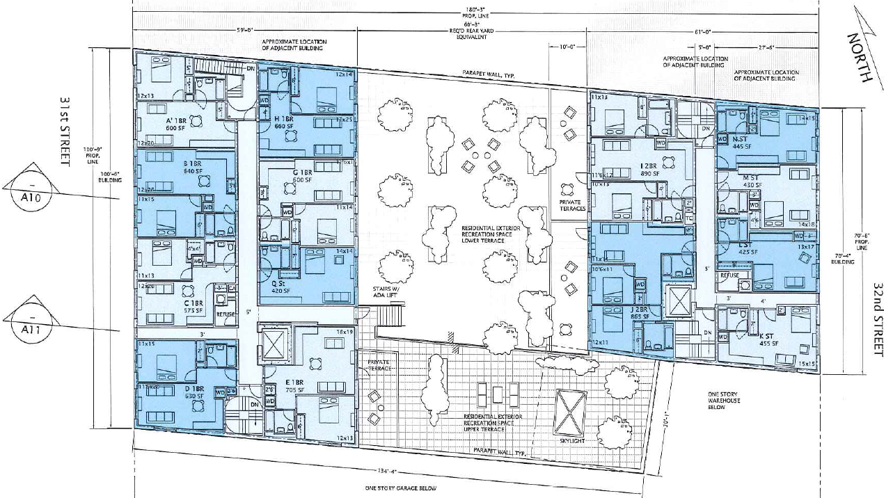 Second level plan. Drawing by Gilman Architects, publicly available via the Remedial Investigation Report.