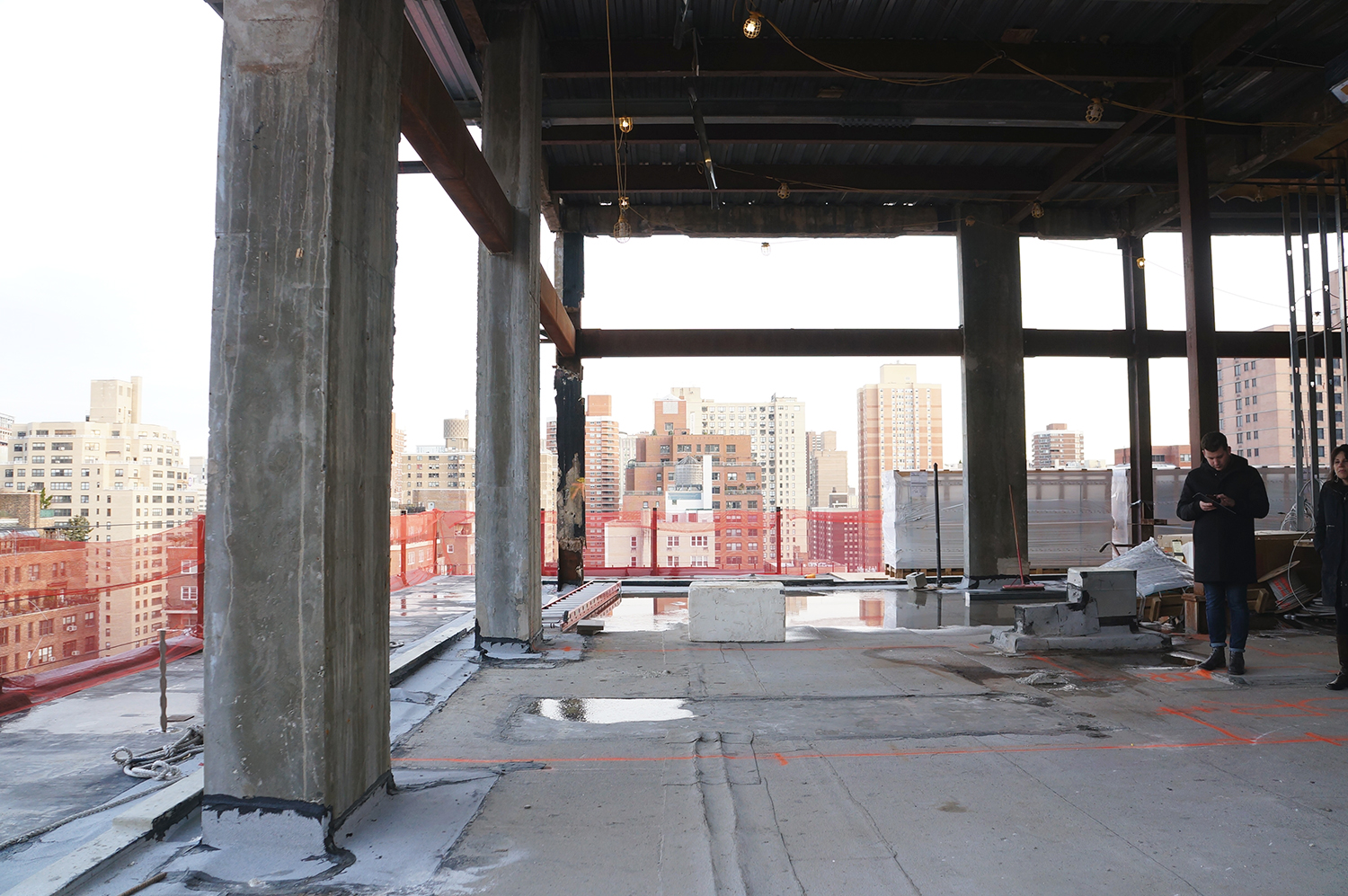 Under construction upper penthouse at 90 Lexington Avenue